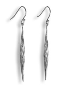 Twisted Collection Sterling Silver Earrings Rhodium plated Sku# E17008TWISLRH