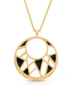 Enamel on Gold Plated Pendant-Necklace Dream