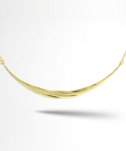 Twisted Necklace Sterling Silver 18K Gold Plated Style N17007TWISLGL