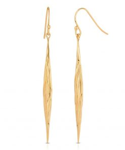 Twisted Swirl Earrings 18K Gold over Sterling Silver
