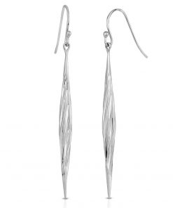 Twisted Swirl Earrings Rhodium over Sterling Silver
