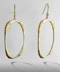Oval Hoops 18k Gold .925 Sterling Silver Hooks