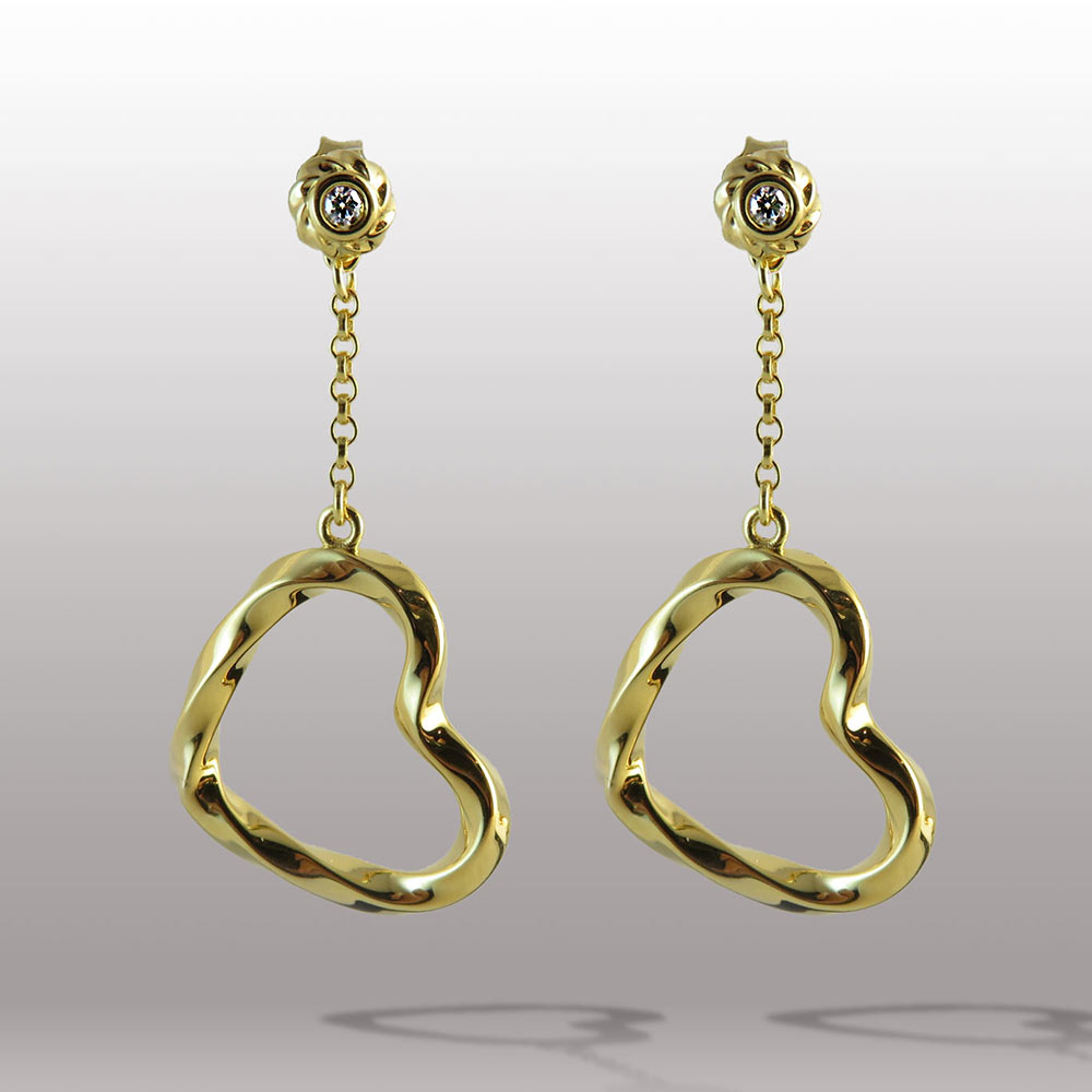 Twisted Collection Twisted Hearts 18K Gold Over Sterling Silver