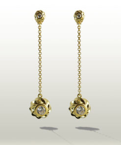 Twisted Collection Twisted Orbs 18K Gold Over Sterling SilverTwisted Collection Twisted Orbs 18K Gold Over Sterling Silver