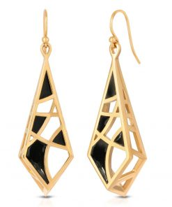 Enamel on Gold Plated Earrings - Dream