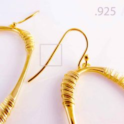 Oval Hoop Earrings 18K Gold Plated