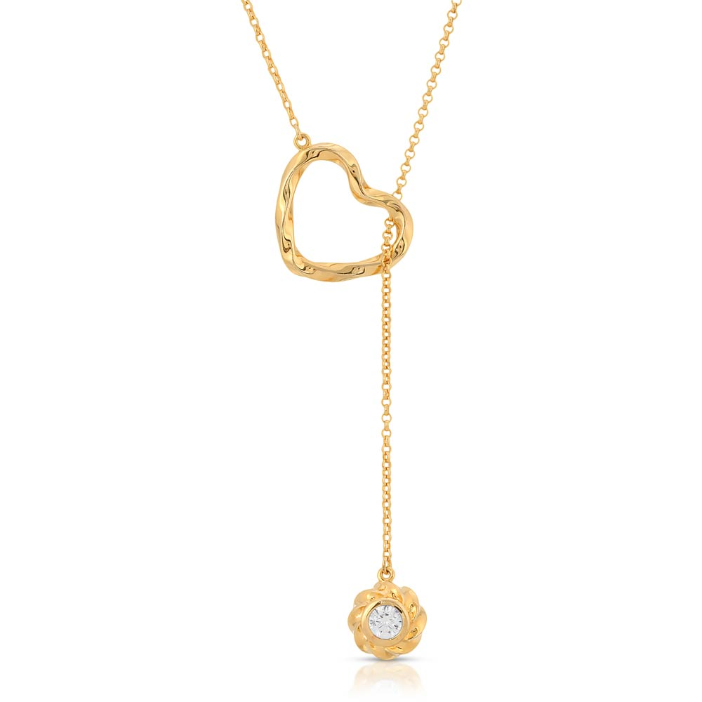 Twisted Heart & Orb Necklace 18K Gold over Sterling Silver