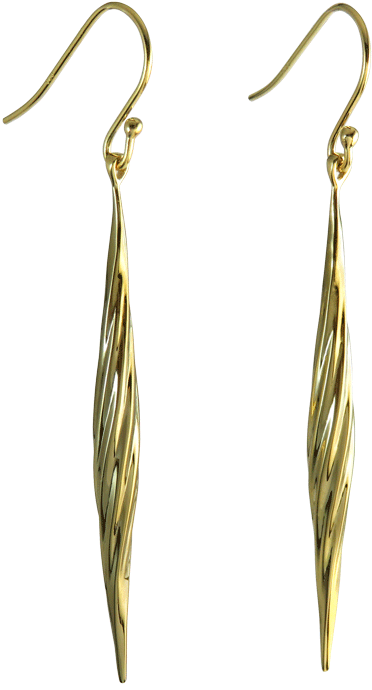 Twisted Collection Sterling Silver Earrings 18K Gold plated Sku# E17008TWISLGL