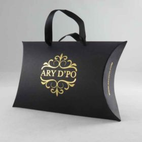 Pillow box with ARY D'PO Logo