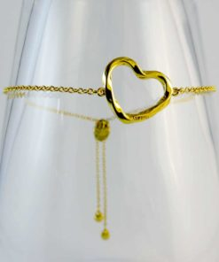 Bracelets from ARY D;PO Designer Jewelry Twisted Heart Bracelet 18K Gold Over Sterling Silver