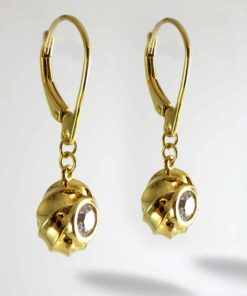 Twisted Collection Twisted Petite Orbs 18K Gold Over Sterling Silver