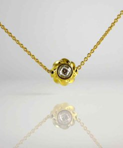 Twisted Petite Orb Pendant Necklace 18K Gold Over Sterling Silver
