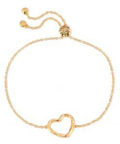 Twisted Heart Bracelet 18K Gold Over Sterling Silver