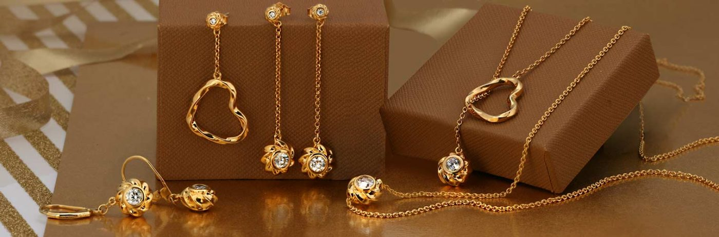 ARY D'PO Heart & Orbs Collection, Necklaces, Earrings, Bracelets