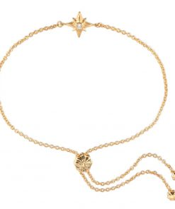 Shiny Star Bracelet 18K Gold Over Sterling Silver