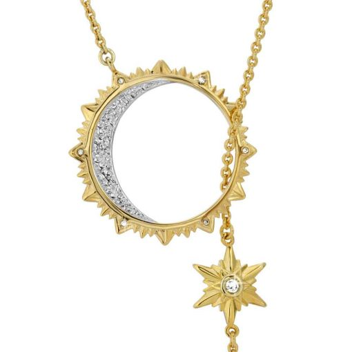Sun, Moon & Stars Lariat Drop Necklace 18K Gold over St. Silver for what is Art