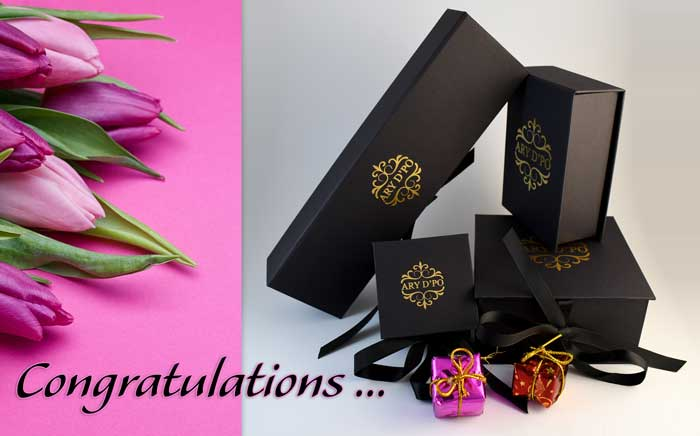 Congratulations gift from arydpo Designer Jewelry