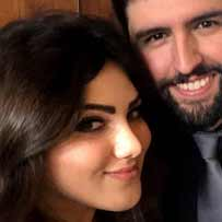 Lilit Aramyan smiling with her fiance