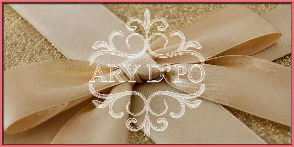 Perfect Jewelry Gift Ideas golden bow with ARY DPO designer jewelry logo
