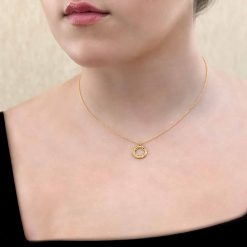 Four Leaf Clover Pendant-Necklace 18K Gold over Sterling Silver