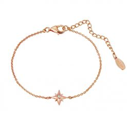 Shiny Star Bracelet 18K Rose Gold Over Sterling Silver