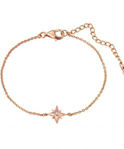 Shiny Star Bracelet 18K Rose Gold Over Sterling Silver