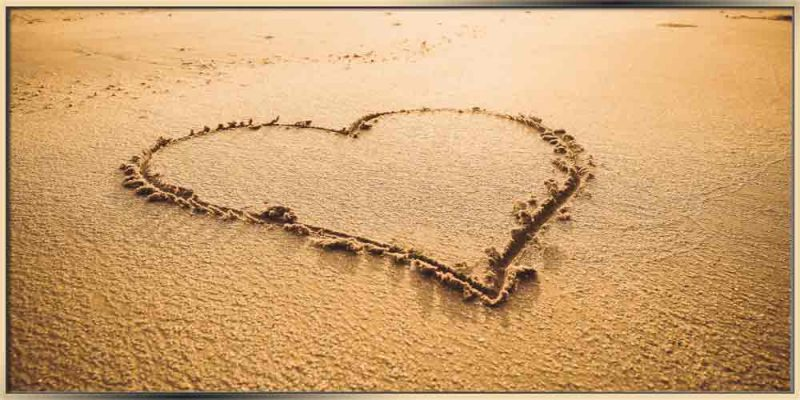 heart drawn on the sand image for blog 12 Amazing Symbolic Jewelry Designs