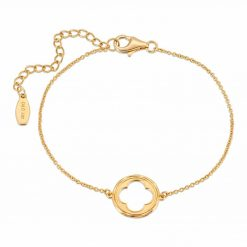 Bracelet 18K yellow gold over .925 sterling silver Quatrefoil