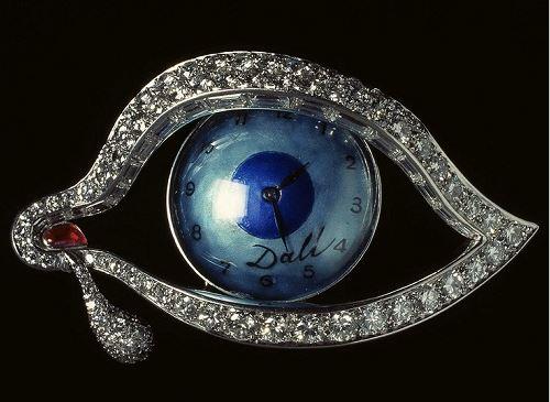 Salvador Dali The Eye of Time Brooch