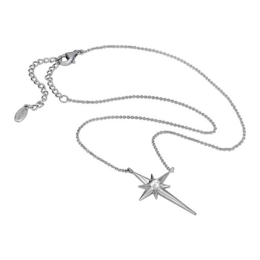 Shiny Star Polaris Necklace Rhodium over Sterling Silver