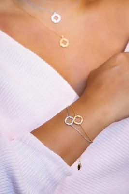ARY DPO 4-Leaf Clover Bracelets in gold & rhodium
