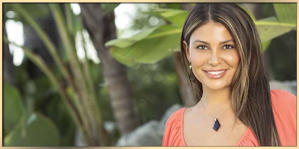 What Type Of Jewelry Is Right For You? Beautifule woman in pink weres obcidian jewelry from ARY D'PO Designer jewelry