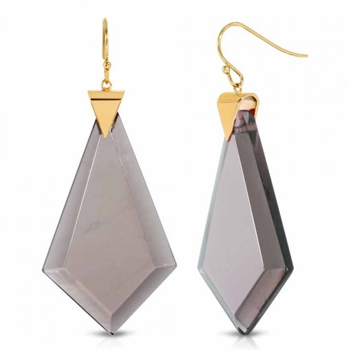 Energy Obsidian Earrings in 18K Gold over Sterling Silver d_01