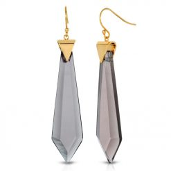 Passion Obsidian Earrings in 18k Gold over Sterling Silver d_01