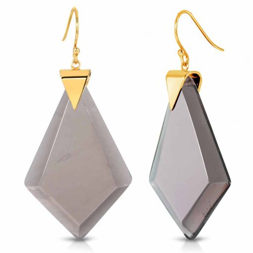 Power Obsidian Earrings in 18K Gold over Sterling Silver d_01
