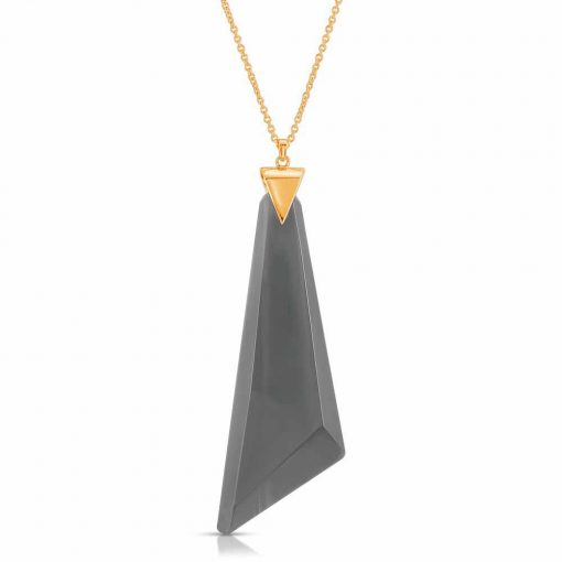 Protection Obsidian Necklace in 18K Gold over Sterling Silver