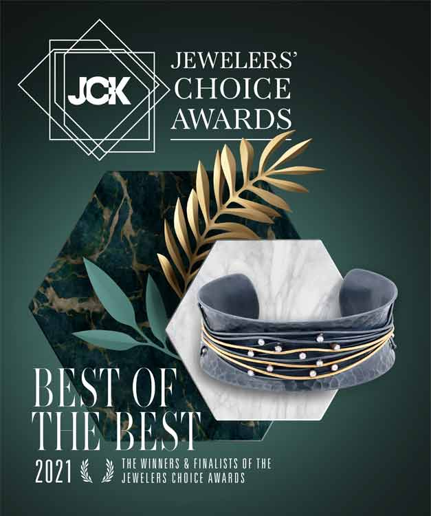 2021 JCK Best of the Best Jewellerers choice Award and Editors choice Award ARY D'PO Lariat necklace Sun, Moon and Stars