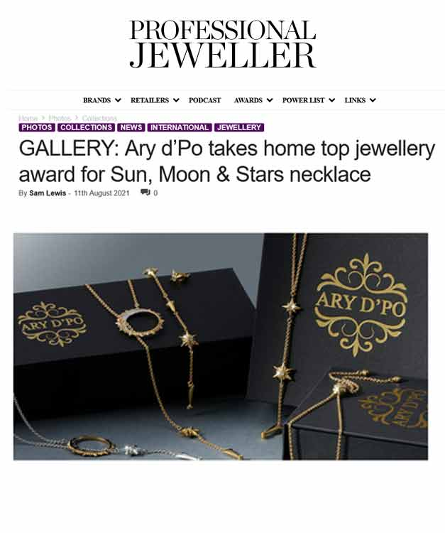 ARY D'PO Published in Professional Jeweller Magazine 2021